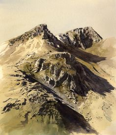 Y Foel Goch, Nant Ffrancon, an original watercolour painting by Rob Piercy