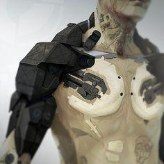 Obsidian Reverie Mothman arm front concept by Bradley Wright / http://bradleywright.wordpress.com/