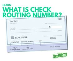What is Check Routing Number or ABA Number? It is a 9 Digit Number - I Think it`s very good, it`s excellent service, I recomend i Payroll Checks, Word Check, Chase Bank, Accounts Payable, First Bank, Capital One, Online Checks, Business Checks, App Development Companies