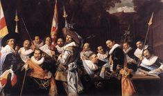 Frans Hals Dutch 1600's Officers and Sergeants of the St Hadrian Civic Guard
