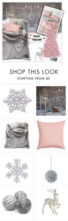 """Pink Christmas"" by deeyanago on Polyvore featuring interior, interiors, interior design, hogar, home decor, interior decorating, Bloomingville, Matteo, CB2 y Disney"