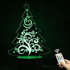 Christmas Tree Shape Color Changing Telecontrol Night Light -