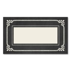 Chalkboard Union   Wedding Place Cards Business Card