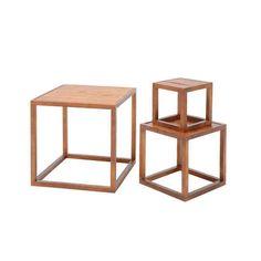 Medium Wooden Cube | Wood Framed Merchandiser | Wooden Cube