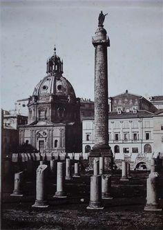 1854/55 Cuccioni Tommaso (attr.) vista del Foro Traiano