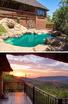 Planning a getaway with a group of friends? With Mabalingwe Uzuri Lodge's fantastic rock pool and breathtaking views you definitely can't go wrong!  #GroupGetaway #friendtime #rockpool #views