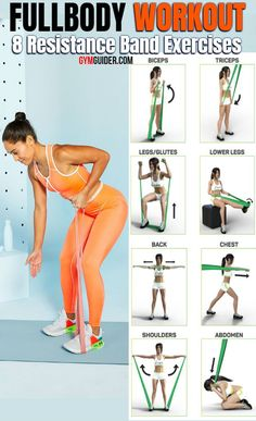 Total-Body Toning Band Workout You Can Do Anywhere With a Resistance Band - Full Body Workout At Home Resistance Workout, Resistance Band Exercises, Resistance Band Training, Mini Band, Total Body Toning, Whole Body Workouts, Volleyball Workouts, Insanity Workout, Butt Workout