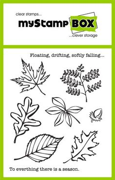 Floating Leaves - clear stamps -  stamp set from myStamp BOX