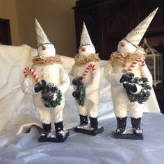 Sandy Bridgett  handmade snowmen