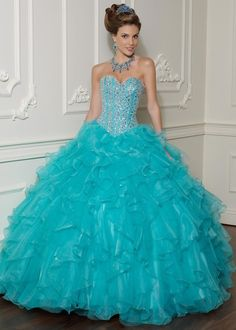 "Vizcaya by Mori Lee Quinceanera Dresses Style 88001  ~pretty ""poofy"" dress"