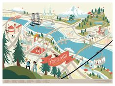 Fun map of Portland valentine valerie buy local buylocal