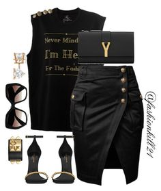 """""""Bada$$"""" by fashionkill21 ❤ liked on Polyvore featuring Prada, Yves Saint Laurent, Allurez, women's clothing, women, female, woman, misses and juniors"""