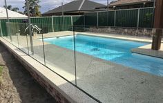 channel fixed glass pool fence - Google Search Glass Pool Fencing, Pool Fence, Google Search, Yard Ideas, Outdoor Decor, Channel, Home Decor, Patio Ideas, Interior Design