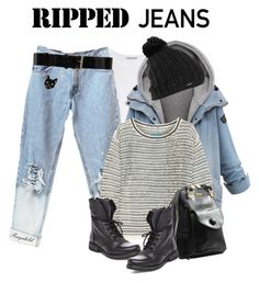 """""""Ripped Jeans"""" by ragnh-mjos ❤ liked on Polyvore featuring Acne Studios, Alice + Olivia, Steve Madden, Chicnova Fashion, Bouchra Jarrar, Burton, contest, outfit and rippedjeans"""