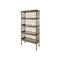 David Francis Furniture Chinese Chippendale Etagere Sunshine By ($1,754) ❤ liked on Polyvore featuring home, furniture, office furniture, shelf furniture, shelves furniture, chinese chippendale furniture and shelving furniture