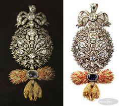 Este Tosão de Ouro com 400 diamantes, o maior pesando 31,50 quilates, é a insígnia criada para Dom João VI por David Ambrósio Gottlieb Pollet em 1790, quando era príncipe herdeiro da Coro a portuguesa. Ela se encontra no Palácio da Ajuda em Lisboa