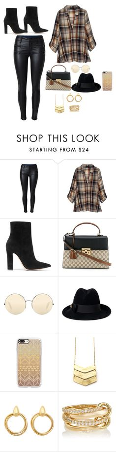 """Untitled #361"" by eliasc ❤ liked on Polyvore featuring Bobeau, Gianvito Rossi, Gucci, Victoria Beckham, Casetify and SPINELLI KILCOLLIN"