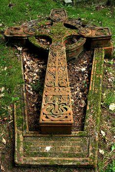 Watts Chapel in Crompton.Celtic cross.