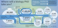 Oh lallala the future is so bright, I got blind. Where Will a Biology PhD Take You? Infographic by the ASCB Committee for Postdocs and Students