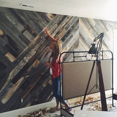 Home Design Trend: Stikwood Paneling - Skimbaco Lifestyle Estilo Interior, Room Interior, Wood Wall Design, Do It Yourself Furniture, Plank Walls, Home Reno, Barn Wood, Reclaimed Wood Walls, Wood On Walls
