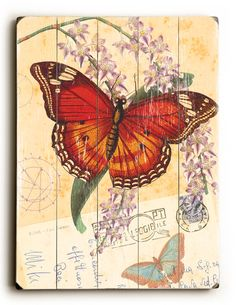 Natural Wonders - Butterfly Wood Sign Art