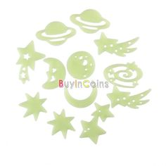Glow Dark Luminous Fluorescent Stickers Wall Art Home Paste Ceiling Deco Decal -- BuyinCoins.com