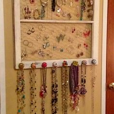 Old window, to jewelry holder in 2 1/2 hours :0)