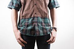 BROWN Short Tartan in Half 'Le Meridien'  #menfashion #ghaisaniyara #fashion