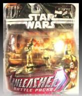 Price $18.00 - Includes  Handling Star wars unleashed battle packs utapau Episode lll Hasbro - Unleashed Battle Packs. The greatest Star Wars battles are at your fingertips The Unleashed battle packs collection captures the raw emotions of each hero, villain soldier and commander in the heat of battle, w...
