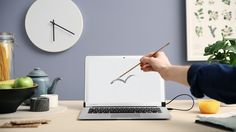Turn your laptop into a touchscreen with this ingenious magnetic bar