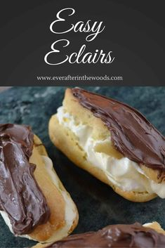 Chocolate eclair pastry recipe vanilla cream filling
