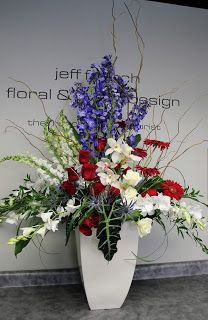 130 best patriotic arrangements images on pinterest wreaths crown red white and blue bouquet jeff french floral event design funeral flowers mightylinksfo