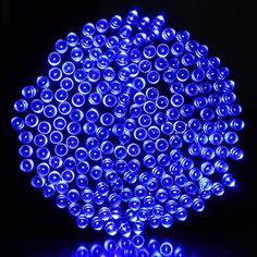 Ucharge 200 72 Feet Solar Powered String Blue LED Lights, Fairy Waterproof String Lights for Indoor, Outdoor, Christmas, Holiday and Patio Decoration *** Read more @
