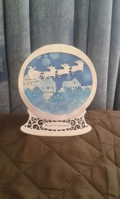 Tattered lace snow globe 2016
