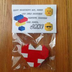 DIY LEGO Valentine Hearts