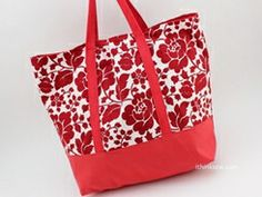 I Think Sew, Forum View Tote bag pattern