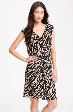 Eliza J Print Cowl Neck Jersey Dress $98
