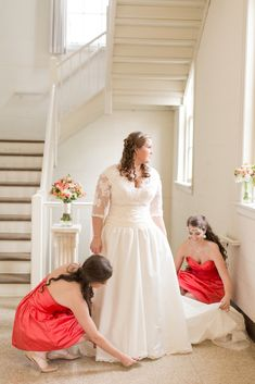 coral wedding bridesmaids dresses