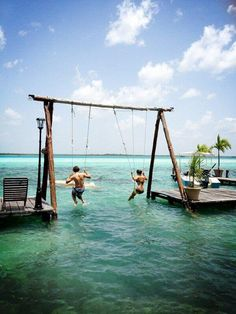 Double sea swing, Bahamas.