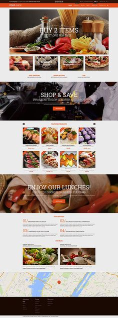 Template 52935 - Food Online Responsive Shopify Theme