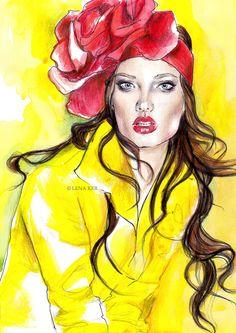 Beautiful fashion illustrations you need to see: Lena Ker - Fashionising.com