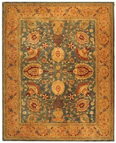 The Taj Mahal collection uses 100-percent hand-spun wool together with an ancient pot dying technique gives this rug much finer details and a rich texture that will last for many years.