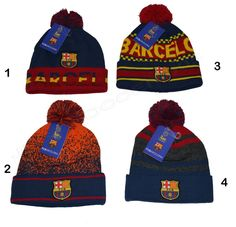 4b8571fb50c Fc barcelona beanie w  pom official winter skull cap authentic 2018 2019 fcb