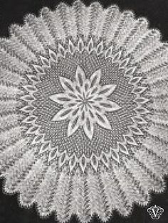 Vintage knitting pattern for intricate round baby christening shawl