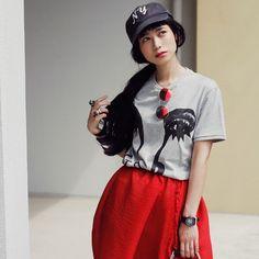 ドロップスナップ!IZUMI (イヅミ), モデル   droptokyo Izumi, Snow White, Normcore, Disney Princess, Vintage, Women, Fashion, Sun, Moda