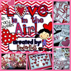 Valentine Themed Activities: Great for Small Group and Centers