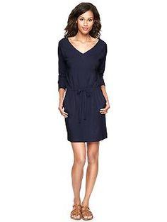 Slub drop-waist dress   Gap...for work in the spring/summer!