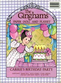 The Gingham's Paper Doll Purple Cover  Carrie's Birthday Party