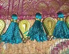 Saree tassel Saree Tassels Designs, Saree Kuchu Designs, Blouse Designs, Saree Blouse, Sari, Passementerie, K2, Indian Sarees, Smocking
