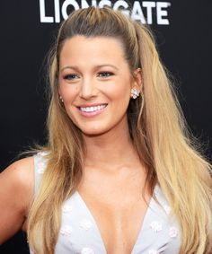 Blake Lively Has a Pink Lipstick Named After Her—and You'll Want to Buy It in Bulk Blake Lively Family, Blake Lively Style, Gossip Girl Hairstyles, Celebrity Hairstyles, Blake Lively Hairstyles, Lipstick Names, Blake Lively Ryan Reynolds, Wedding Hairstyles, Cool Hairstyles